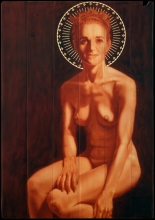 Santa Raquel 2014 71X101cm Acrílico sobre madera